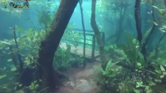 Heavy Flooding Perfectly Preserved A Hiking Path And Bridge Underwater And It's Trippy AF