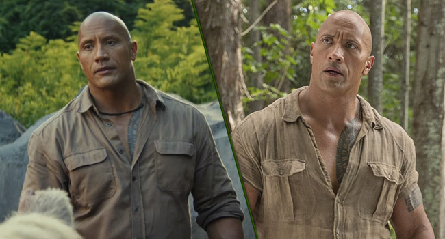 dwayne johnson looks same every movie