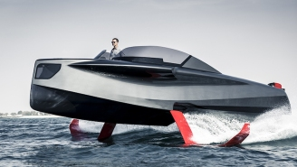 Foiler 'Flying Yacht' Is A Stylish Hybrid-Powered Hydrofoil Watercraft With A Speedy Smooth Ride