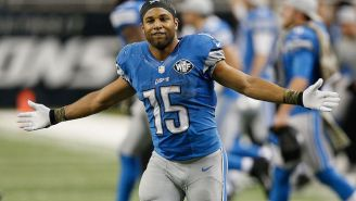 Golden Tate Showed Off His Receiving Skills Before Chugging A Beer In An American Flag Ski Suit