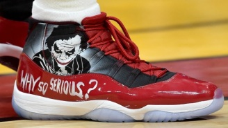 Hassan Whiteside Shows Off His Custom 'Joker' Themed Air Jordan 11s During Heat-Bulls Game