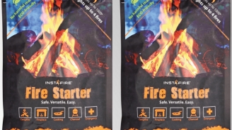 InstaFire Fire Starters Work In Rain, Sleet, Snow, And Even On Ice In 30mph Winds