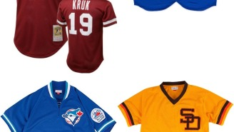 Celebrate The Start Of Baseball Season With These Sick Throwback Mitchell & Ness Batting Practice Jerseys