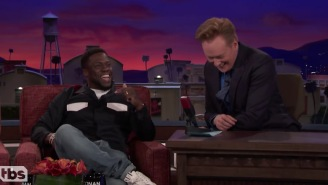 Kevin Hart Gave Conan A Hilarious Play-By-Play Of His Drunken Mission To Hold The Super Bowl Trophy
