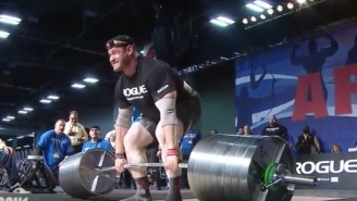 Russian Strongman Begins Bleeding Uncontrollably From Nose Under Stress Of 963-Pound Deadlift