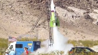 Flat-Earther Blasts Off In Homemade Rocket To Find The Truth And He Actually Survives