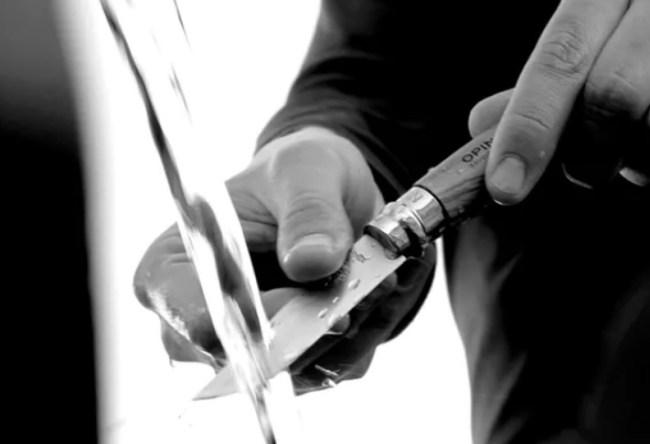 Opinel No. 8 walnut pocket knife