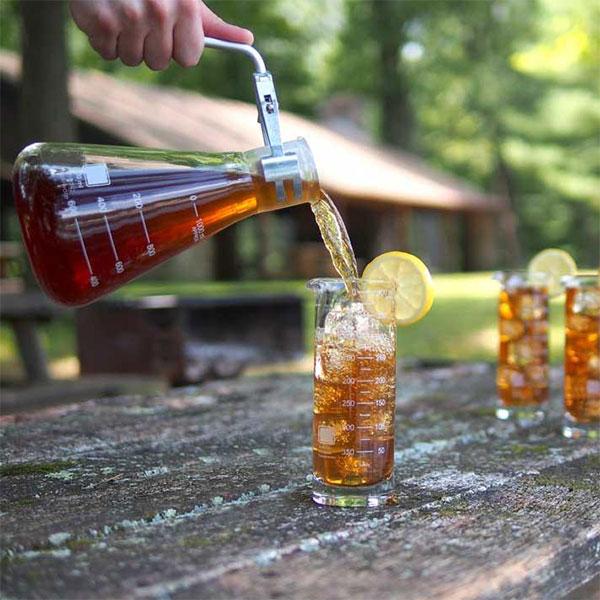 science beaker highball glass