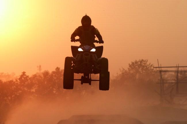 off-roading ATV