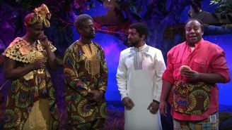 SNL: 'Black Panther' Deleted Scene Reveals More Of T'Challa's Ancestors