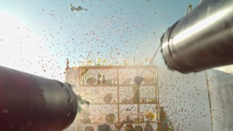 Dudes Take A Paintball Shotgun To Breakable Glass And Film It In Slow-Mo HD Using A 4K Camera
