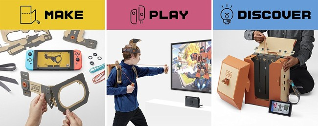 Upcoming Video Game New Releases April Nintendo Labo Robot