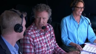 Will Ferrell Crashed The Booth During Another One Of Federer's Matches And I Can't Keep A Straight Face