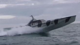 The XSV 17 Thunder Child Is A Badass Boat Built For The Military That Can Flip Itself Over If Capsized