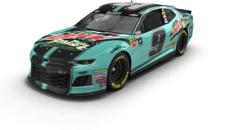 EXCLUSIVE: Here's A First-Look At The #9 MTN DEW BAJA BLAST Car That Chase Elliott Will Be Driving In The Bristol NASCAR Race