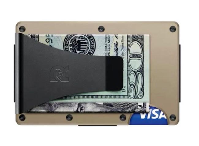 Aluminum Ridge Wallet Money Clip Desert Tan
