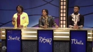 SNL: Chadwick Boseman's 'Black Panther' Character T'Challa Struggles Mightily On 'Black Jeopardy'