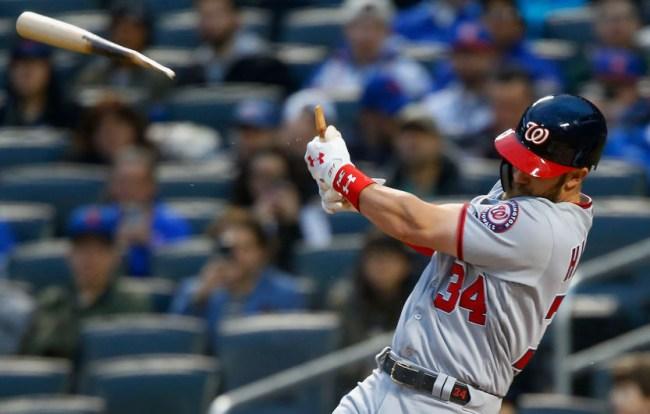 bryce harper broken bat home run