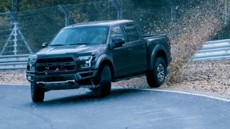 Watch A World Champion Drifter Make A Ford F-150 Raptor Pickup Truck Drift All Around Nurburgring