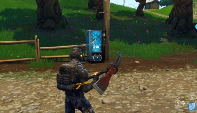 fortnite battle royale vending machines map