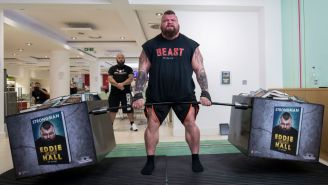 World's Strongest Man Eddie Hall Breaks 100-Meter SkiErg World Record With Ridiculous Arm Workout