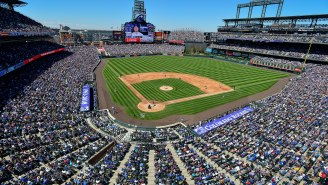 Fan Runs On The Field During Rockies-Cubs Game Before Getting Bundled By Three Security Guards