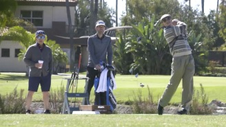 'Old Man' Leaves Golfers Gobsmacked By Ripping 400-Yard Drives On The Range