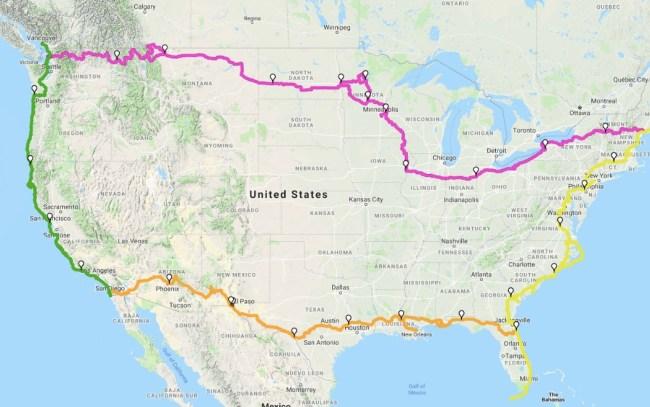 gergory hook trike across America