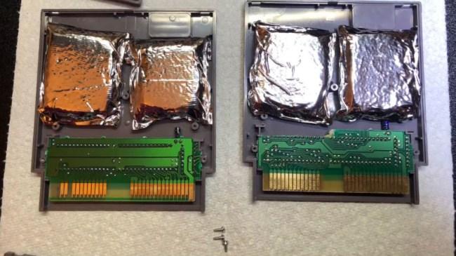 hidden drugs in NES game cartridge