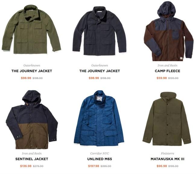 Huckberry Winter Coat Sale