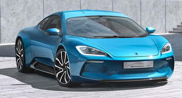 Isdera Commendatore GT electric gullwing supercar