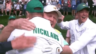 Watch Jack Nicklaus' Grandson Hit A Hole-In-One As A Caddy At The Masters Par-3 Contest