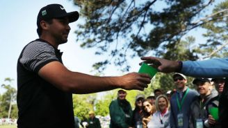 Jason Day Somehow Managed To Hit A Shot Into A Fan's Beer At The Masters