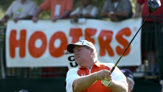 Someone Ran Their Car Into The RV John Daly Parks Next To The Augusta Hooters During The Masters