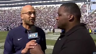 Keegan-Michael Key Leads Penn State Onto The Field While Pretending To Be James Franklin