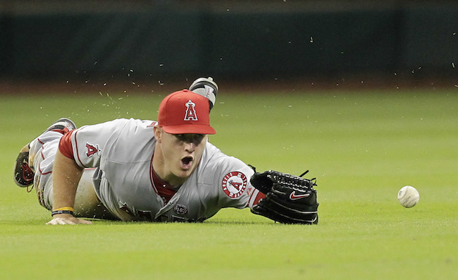 mike trout los angeles anaheim angels