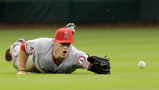 'Space Jam' Fan Mike Trout Keeps A Bottle Of His Own 'Secret Stuff' In The Dugout