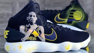 Trevor Booker Gets Custom Sneakers That Features Reggie Miller Doing Choke Taunt Gesture And They Are Amazing