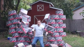 Bro Hero Tries To Make A Commercial For Costco's KIRKLAND Light Beer In His Backyard