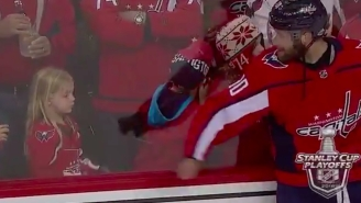 How Big Of A Bro Is Brett Connolly For Making Sure This Little Girl Got A Souvenir Puck At The Caps Game?