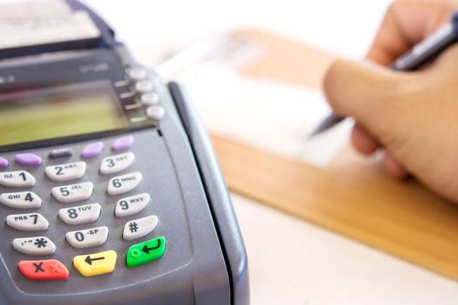 credit card signature