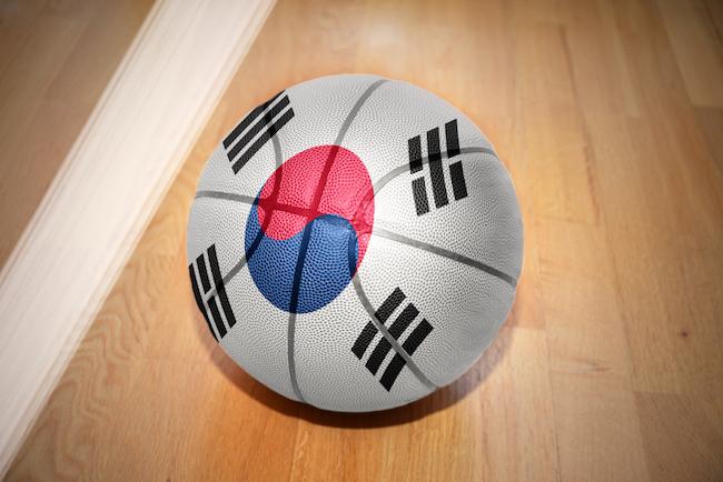 south korea flag basketball