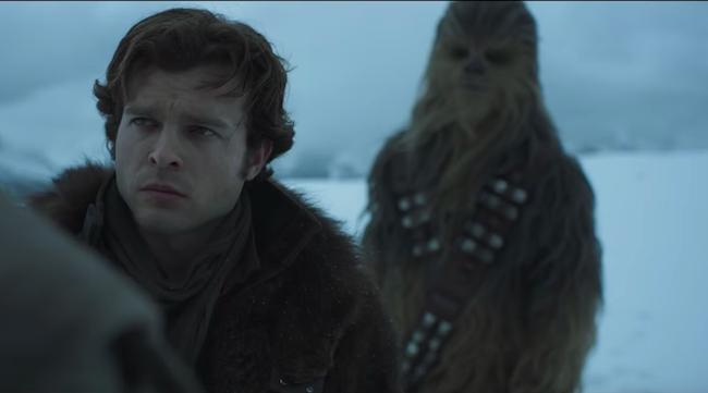 solo star wars movie trailer han chewbacca