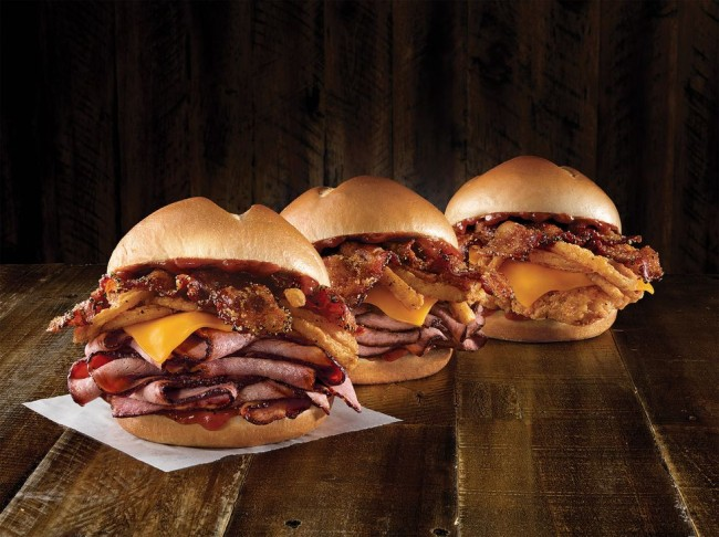 arbys bourbon bbq sandwiches
