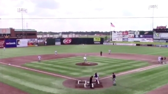 DIII Baseball Pitcher Pukes All Over The Field Before Getting Final Three Outs