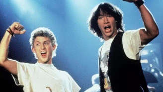 First Most Excellent Photos From 'Bill & Ted 3' Show Keanu Reeves Meeting Death
