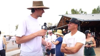 Tallest Man In The NBA, Boban Marjanovic, Visits Kelly Slater's Wave Ranch And Learns Surf Lingo