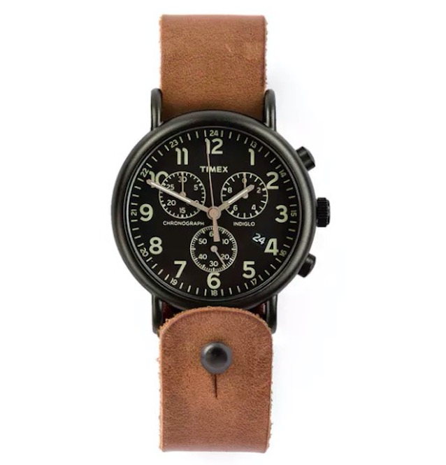 Timex Weekender Horween Leather Chronograph