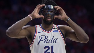 Joel Embiid Bounced A Ball Off Some Dude's Face And Then Threw A Windmill Dunk While Playing In The Park