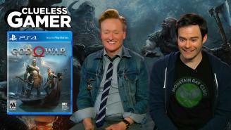 Clueless Gamers Conan O'Brien And Bill Hader Played 'God of War' And Somehow They Weren't Impressed